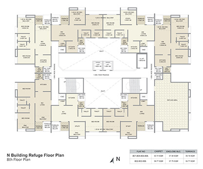 n building refuge floor plan - 8th floor