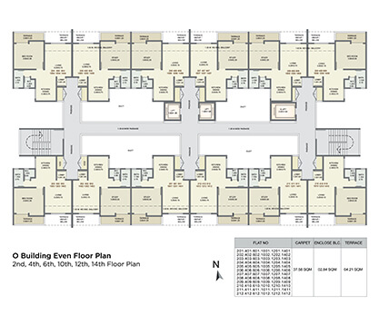 O building even floor plan