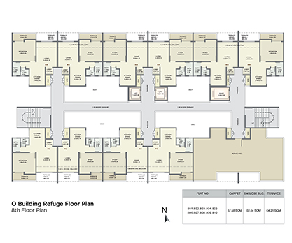 o building refuge floor plan - 8 th floor