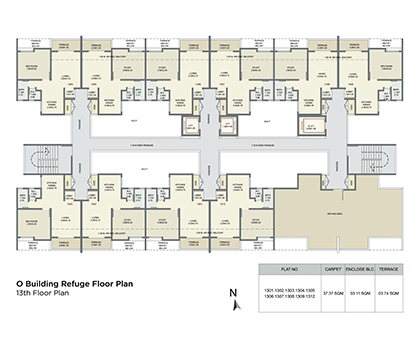 o building refuge floor plan - 13th floor