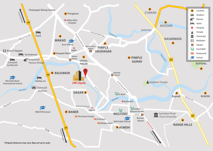 Kolte Patil 24K Opula Location Map