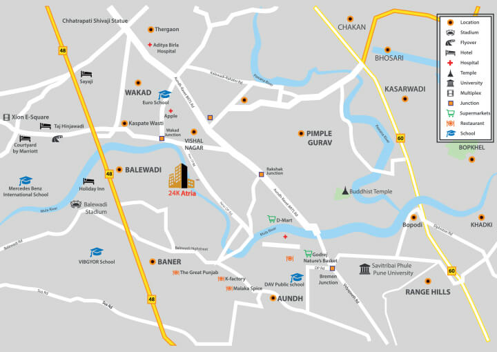 Kolte Patil 24K Atria LOCATION MAP