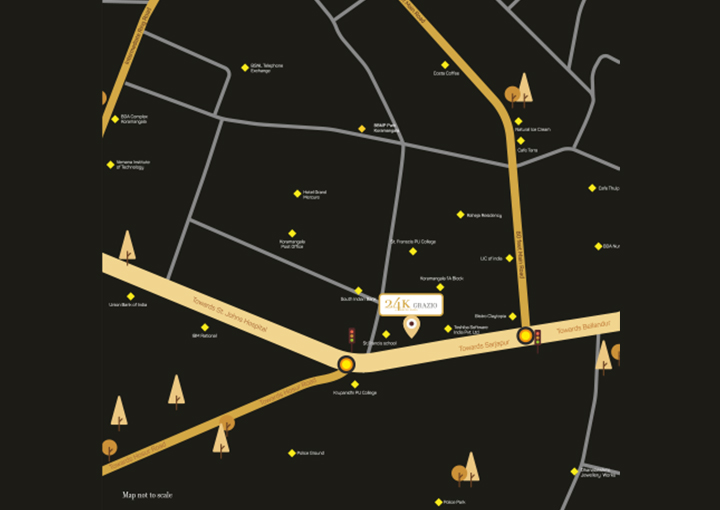 24k Grazio Koramangala, Bengaluru Location Map