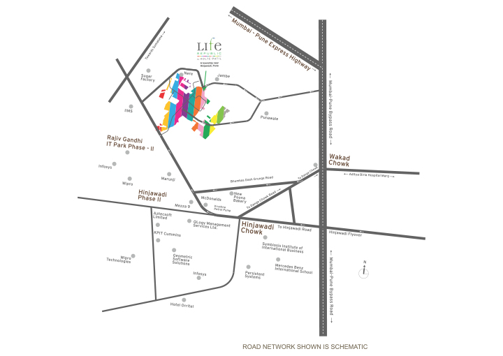 Nora at Life Republic LOGO PROJECT AMENITIES- Location Map
