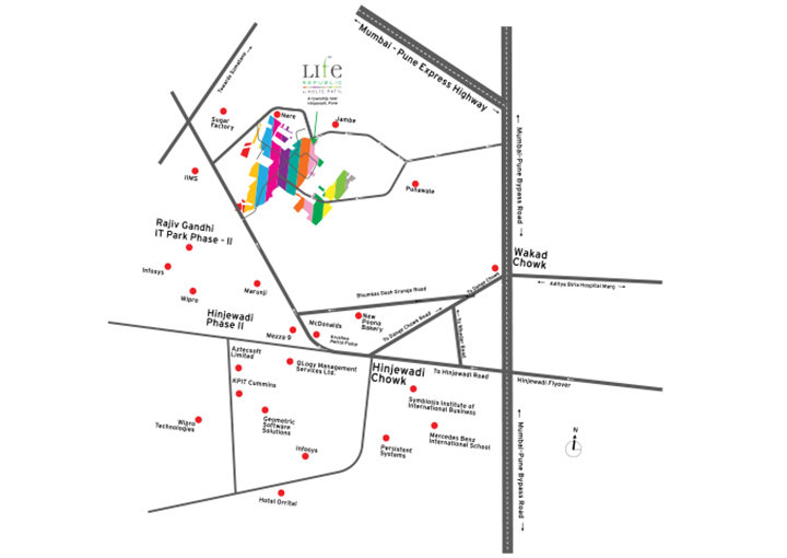 Life Republic i-TOWERS Location Map