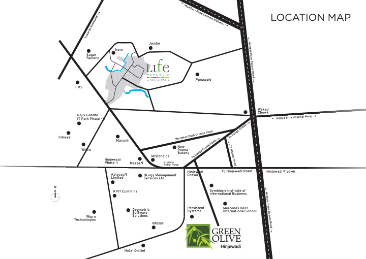 Kolte Patil Green Olive Location Map